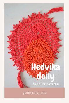 New crochet pattern - Hedvika oval doily, designed by Olga Shalaeva (gull808).