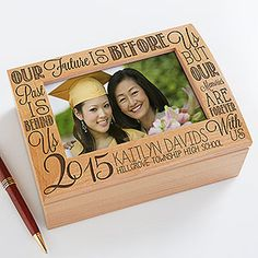 Graduation Memories Personalized Photo Keepsake Box - GREAT Graduation Gift idea for high school or college grads! I love this graduation quote!
