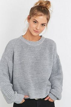 BDG Waffle Knitted Fisherman Jumper