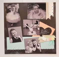 Stampin' Dolce: Chalkboard inspired scrapbook pages using Stampin' Up! Sale-a-bration products.