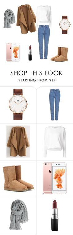 """Boyfriends."" by marion31 ❤ liked on Polyvore featuring Daniel Wellington, Topshop, WithChic, Alexander Wang, UGG Australia, Calypso St. Barth and MAC Cosmetics"