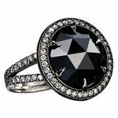www.lorraineefune.com : Black diamond in Black rhodium plated white gold