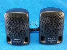 Sony SRS-P3 Mini Stereo Speakers Portable 2 Mini Speakers Black Wired FreeShip #Sony