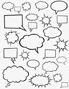 Free Comic Strip Templates Great For Kids To Color Cut Out And