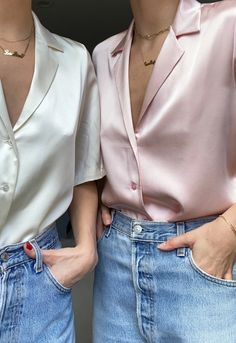 French Outfit, Classy Work Outfits, Minimalist Fashion, Minimalist Nails, Buy Shirts, Silk Charmeuse, Zara Tops, Aesthetic Clothes, Mauve