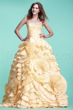 Dresswe.com SUPPLIES Charming Ball Gown Strapless Floor-length Ela's Ball Gown/Quinceanera Dress Quinceanera Dresses