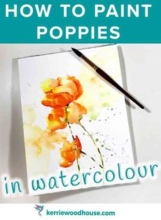 The wild free nature of the poppy makes it a wonderful subject for watercolour. There are so many ways to go about painting them. Here are 3 different approaches including video demonstrations to get you inspired. Watercolor Flowers Tutorial, Watercolor Poppies, Watercolour Tutorials, Painting Tutorials, Watercolour Tips, Poppies Painting, Watercolor Wave, Painting Tips, Painting Art