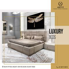 Wake up with determination and go to slumber with satisfaction!   Discover a wide range of Luxury Beds and other impressive designer furniture collection at Artyz.  #homedecor #interiors #LuxuryFurniture #beds #livingroomideas #modernbeds #Artyz Modern Furniture Stores, Furniture Showroom, Luxury Furniture, Cool Furniture, Furniture Design, Furniture Collection, Luxury Bedding, Couch, Living Room