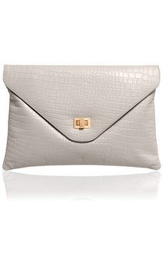 The Lily dove grey clutch
