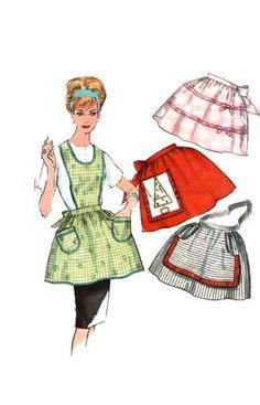 Simplicity 4213 Apron Vintage Paper Pattern christmas one yard hostess Vintage Apron, Vintage Paper, Retro Vintage, 1950s Christmas, Christmas Aprons, Apron Patterns, Vintage Sewing Patterns, Cute Aprons, Sewing Aprons