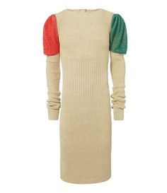 Beautifully knitted from hemp and kept in its natural yarn colour without any alteration, this unisex dress adopts a textured ribbed all-over effect. Featuring both slightly gathered and exaggerated sleeves, which have been delicately created from a blend of mohair, add colour to the garment.