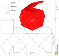 Template Present Box Red Cut Square Casket Royalty Free Stock Photos - Image: 16328808 Origami Design, Diy Gift Box, Diy Box, Paper Crafts Origami, Diy Paper, Origami Art, Paper Box Template, Cardboard Packaging, Casket