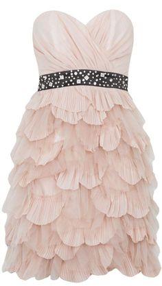 Lipsy V I P Bandeau Ruffle Dress