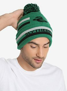 Harry Potter Slytherin Pom Beanie - BoxLunch Exclusive 3b2aeabe28d4