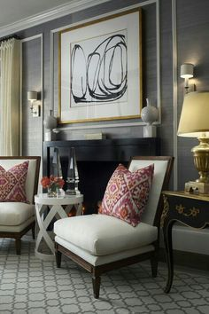 Isn't this the perfect living room? Fairly modern look with some accent pillows.