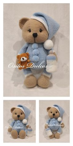 Crochet animals 339177415692022470 - Amigurumi Crochet Teddy Bear Free Pattern – Free Amigurumi Patterns Source by verotipuce Teddy Bear Patterns Free, Crochet Amigurumi Free Patterns, Crochet Animal Patterns, Crochet Teddy Bear Pattern Free, Crochet Animals, Doll Patterns, Crochet Baby Toys, Crochet Dolls, Teddy Bear Clothes
