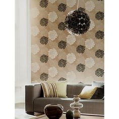 Buy Harlequin Wallpaper, Divine 30482, Black / Mocha Online at johnlewis.com