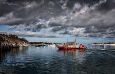 Chatham, MA (Cape Cod) -beautiful shot of the Coast Guard Station Chatham's Near-shore Lifeboat 42003 and Aunt Lydia's cove, courtesy of Oakwood Photography/James R. Walczak