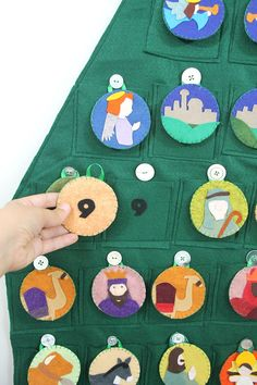 Nativity Themed Felt Advent Calendar Pattern