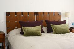 respaldo cama cuero trenzado — Estudio V