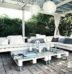 52 idées pour fabriquer votre meuble de jardin en palette | Chaise ...