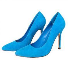 Manolo Blahnik Pointed-Toe Pump Blue  http://www.euroshoesdress.com/manolo-blahnik-pointedtoe-pump-blue-p-9665.html