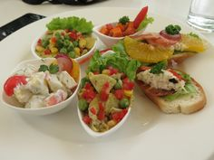 Variety of salads....just as tasty as it looks....