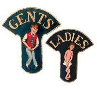 LADIES u0026 GENTS SIGNS - RESTAURANT BATHROOM SIGN