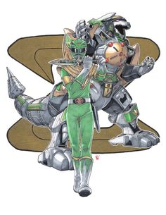 Not a commission, this time, just a personal illustration for my favorite ranger from my youth. ^_^ Dragon Ranger and Dragon Caesar from Kyouryuu Sentai Zyuranger. Done with regular ink pens, Micro...