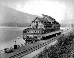 The transformative, gateway community of Sicamous Old Train Station, Train Stations, Houseboat Rentals, Capital Of Canada, Eagle River, New Condo, Model Train Layouts, History Photos, During The Summer