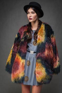 Firebird Faux Fur Coat