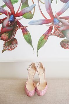 Bride's pink shoes // Hazelnut Photography // http://www.theknot.com/submit-your-wedding/photo/401e8cad-3ace-445c-a9c1-8384c687c51a/Melissa-and-Gus-Wedding