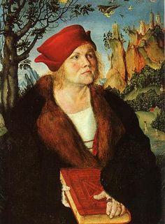 Johannes Cuspinian, ca. 1502-1503 by Lucas Cranach the Elder, 1472-1553 Museum Oskar Reinhart am Stadtgarten, Winterhur
