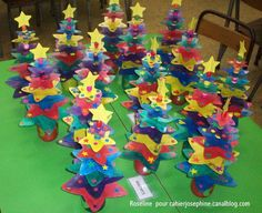 lovely idea for a Christmas tree art project; use acrylic  or metalic paints and some wooden beads