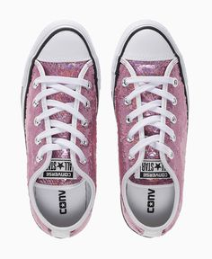 Converse - Party Sequin All Star Ox Trainers - Pink - Shoes & Trainers - Womens