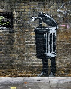 Another Piece by Banksy. To me, this represents the common theme of spying throughout Hamlet....