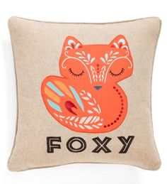 cute foxy accent pillow
