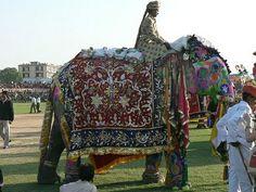 Hermosas telas hindúes, bordadas con hilos multicolores, dorados y plateados...