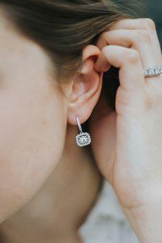 Forevermark Bouquet diamond drop hoop earrings