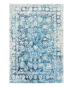 Look what I found on #zulily! Blue Floral Boisvert Rug #zulilyfinds