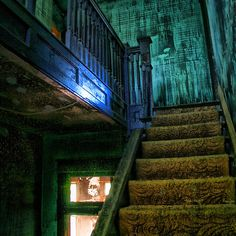 """""""Interior Stairs"""" by Charlie Bookout - 2006 / digital photography"""