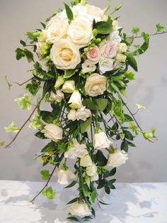 Cascade bouquet by Chanan's Floral Events