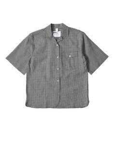 Margaret Howell - MHL Safari Shirt in Off White and Black – gravitypope Safari Shirt, Margaret Howell, Half Sleeves, Gingham, Men Casual, Collections, This Or That Questions, Fabric, Mens Tops