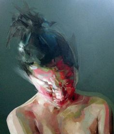 Simon Birch #art #painting #portrait #abstract #contemporary #surreal #figurative  #motion #creative