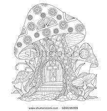 Image Result For Zentangle Fairy Garden Mushroom Fairy Coloring