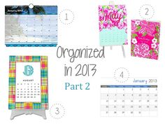 Classy Girl in Green: Keeping Organized in 2013...Part 2