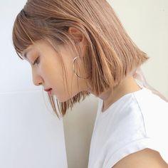 Japanese Hairstyle Pin By Medium Hair Styles, Natural Hair Styles, Short Hair Styles, Bob Hair Color, Hair Arrange, Shoulder Hair, Short Bob Hairstyles, Korean Hairstyles, Men Hairstyles