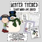 Winter Themed Sight Word ABC Order