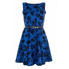 Blue and Black Glitter Flower Skater Dress Kohls Dresses, Day Dresses, Blue Dresses, Short Dresses, Skater Dresses, Glitter Flowers, Glitter Dress, Blue Glitter, Blue Flower Dress