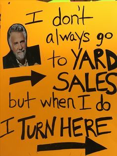 Getting ready to have a yard sale? You can make more money at your yard sale by having good signage. Check out these 20 funny yard sale signs! Yard Sale Signs Funny, Garage Sale Signs, Funny Signs, Garage Sale Organization, Garage Storage, Sale Signage, Lighted Wine Bottles, For Sale Sign, Sale Poster